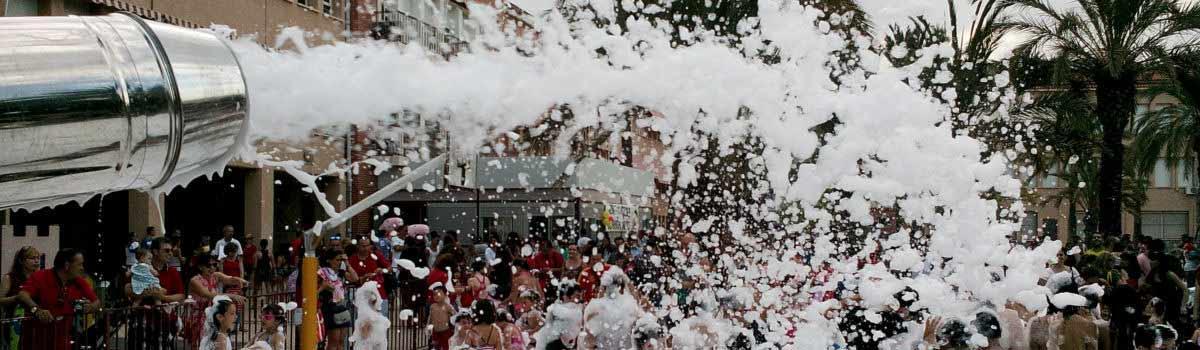 Alquiler cañón de espuma para Fiestas