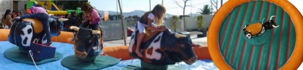 Alquiler Toro mecánico infantil para Fiestas y cumpleaños en Alicante y Murcia