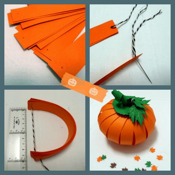 Calabaza de papel para fiesta de halloween