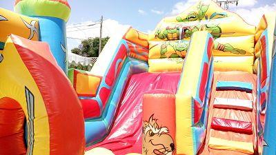 Castillo Hinchable Tortugas Ninja en Fiesta de Cumpleaños de Novelda