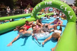 Alquiler de hinchable acuatico para fiestas y eventos