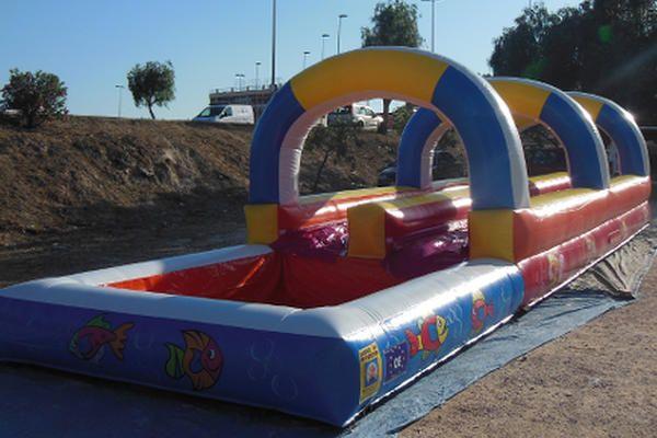 Hinchable acuático deslizante para fiestas