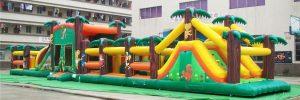 Pista americana hinchable para fiestas infantiles