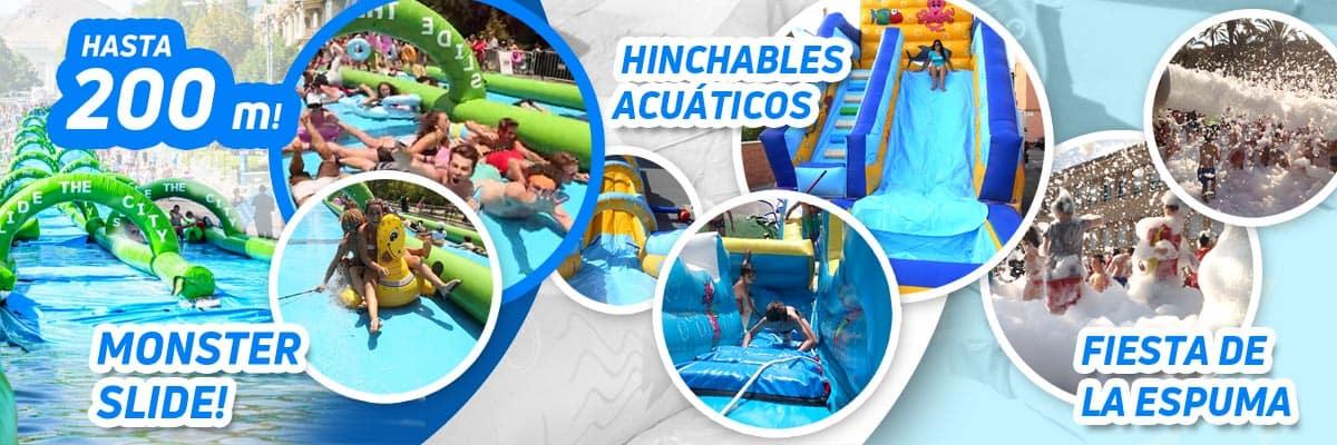 Alquiler castillos hinchables para piscina Alicante y Murcia
