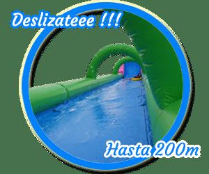 Deslízate por el monster slide, 200 metros de diversión