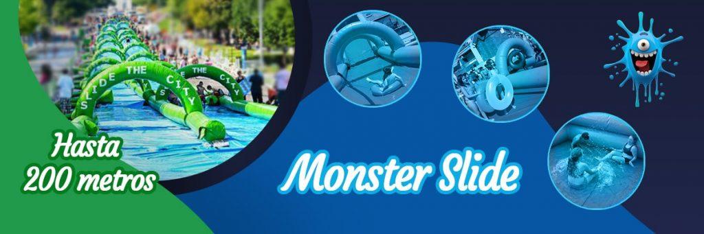 la más refrescante del verano es el hinchable monster slide.