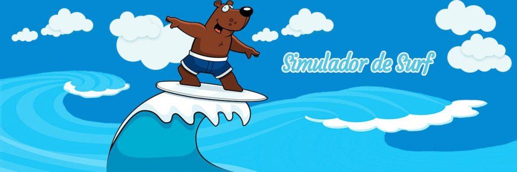 Simulador de surf, una atracción muy divertida.