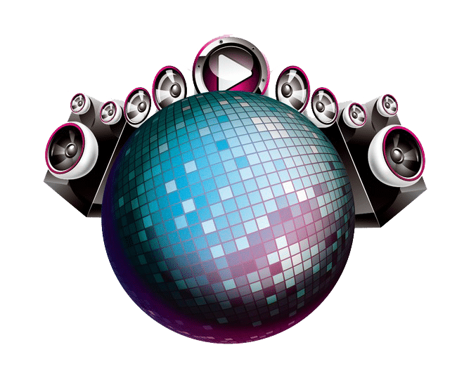 bola de discoteca, para fiestas.