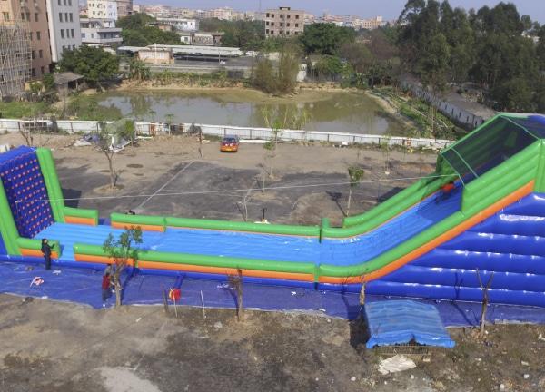 Alquiler Tirolina Hinchable para eventos infantiles en Alicante y Murcia
