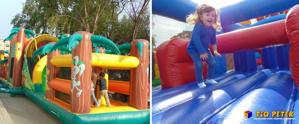 La pista americana es una atracción ideal para que los niños se diviertan.