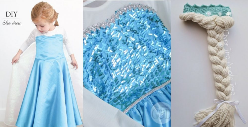 Disfraz de Frozen hecho a mano