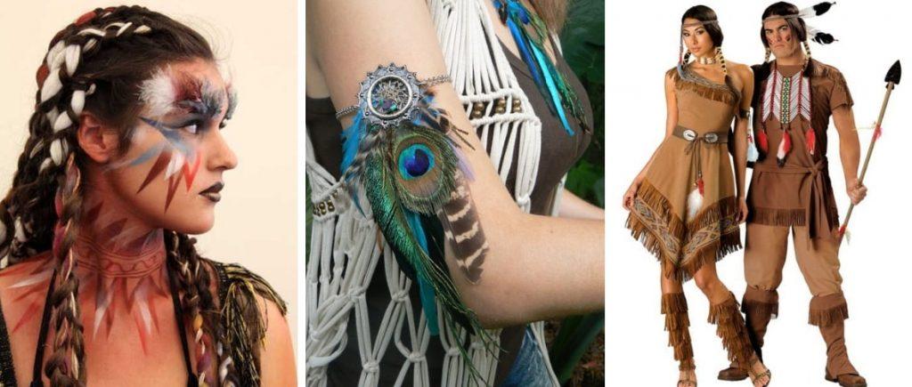 Ideas para hacer un disfraz de india e indio muy currado.