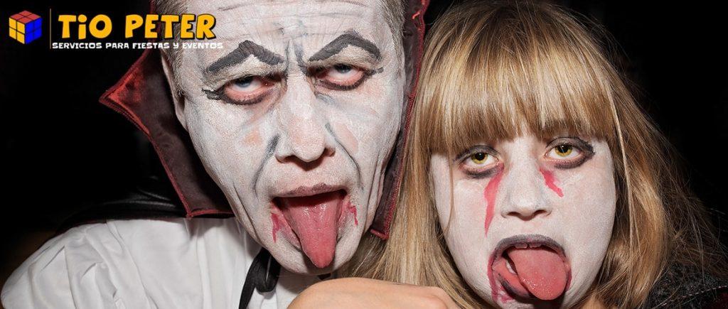 Disfraz de Halloween de vampiro.