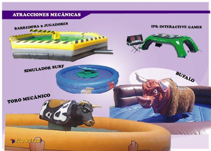 Alquiler atracciones mecánicas para fiestas en Alicante