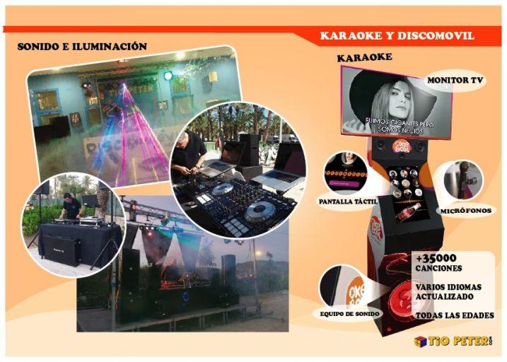 Alquiler karaoke y discomovil con sonido e iluminación