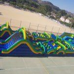 Castillo hinchable de obstaculos y toboganes en Alicante y Murcia