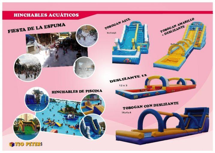 Alquiler colchonetas hinchables acuáticos en Alicante