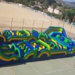 Castillo Hinchable pista americana para fiestas de adultos