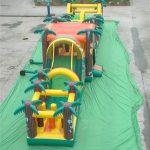 Obstáculos y rampas en colchoneta hinchable para Fiestas
