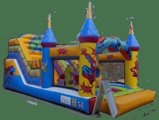 Alquiler castillo superheroes para fiestas infantiles