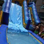 Alquiler tobogan acuático con piscina para Fiestas Infantiles