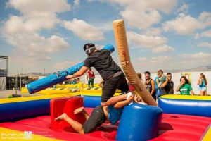 Hinchable para adultos, lucha de gladiadores