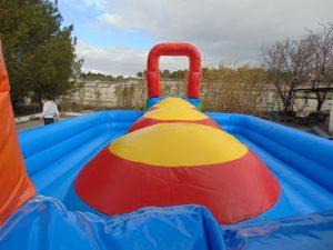 Bolas de salto humor amarillo, hinchable competición