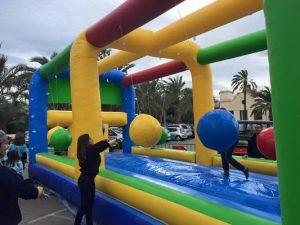 Hinchable juego guaypaut para fiestas