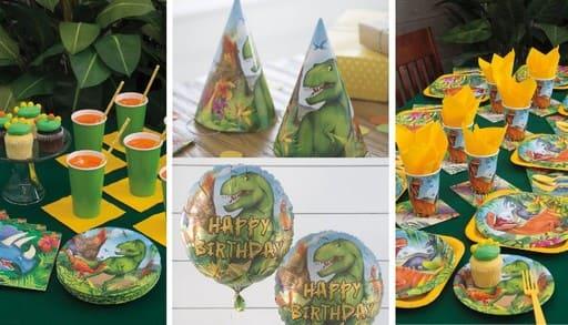Decoracion para fiesta de dinosaurios